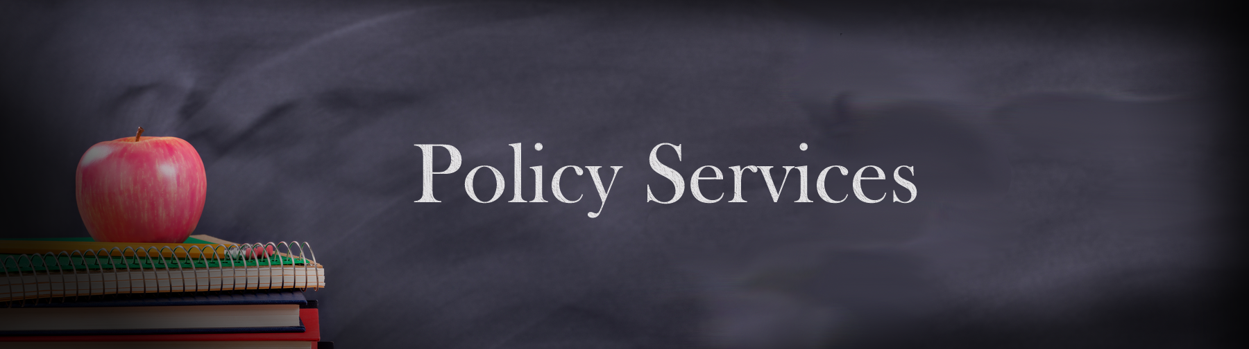 Policy Services Writen on Chalk Board