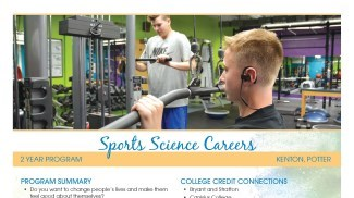 Sports Science Careers Flyer