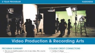 Video Production and Recording Arts Flyer