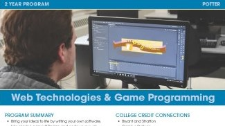 Web Technologies and Game Programming Flyer